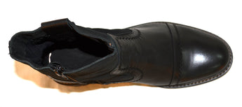Leather Black Boots In Genuine Leather Made in Portugal
