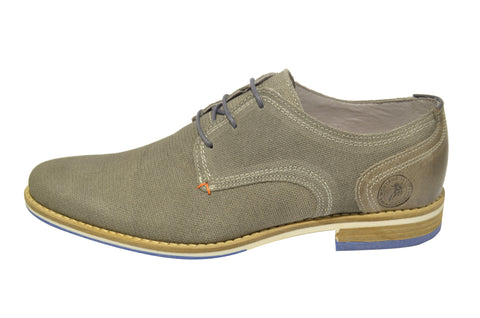 Men's Casual/Classic Grey Shoes in Leather And Textile