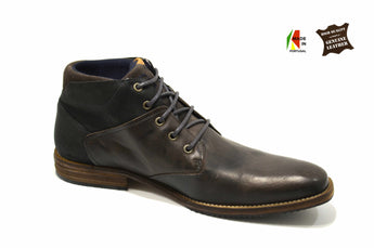 Men's Brown Chukka Boots in Genuine Leather