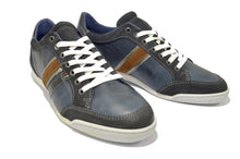 Blue Sporty Shoes in Genuine Leather