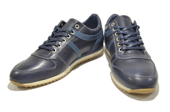 Men's Blue Sport Casual Shoes in Genuine Leather