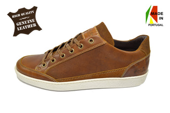 Men's Brown Sport/Casual Shoes in Genuine Leather