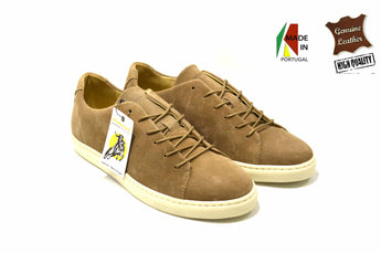 Beige Sneakers in Genuine Leather