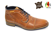 Men's Brown Fashion Chukka/Classic Boots in Genuine Leather Made in Portugal
