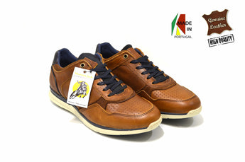 Brown Sporty Shoes in Genuine Leather