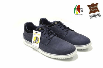 Blue Sporty Lightweight Shoes in Genuine Leather