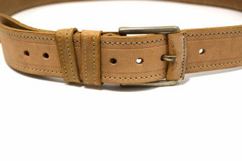 Genuine Leather Dress Casual Beige Belt