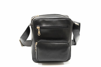 Men's Black Medium Leather Bag