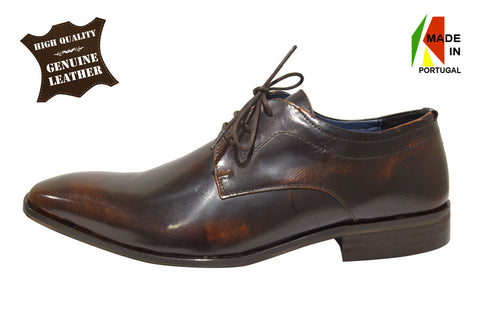 Classic Dress Brown Shoes In Genuine Leather