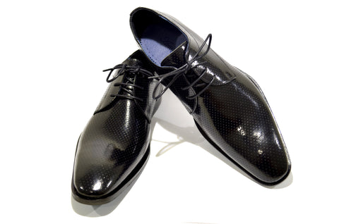 Classic Men's Black Shoes in Genuine Leather