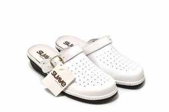 Hope Ladies White Sandal EE in Genuine Leather