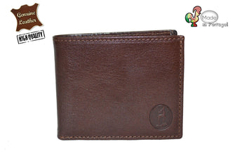High Quality Brown Wallet Mens Soft Leather Bifold ID Credit Card Handmade