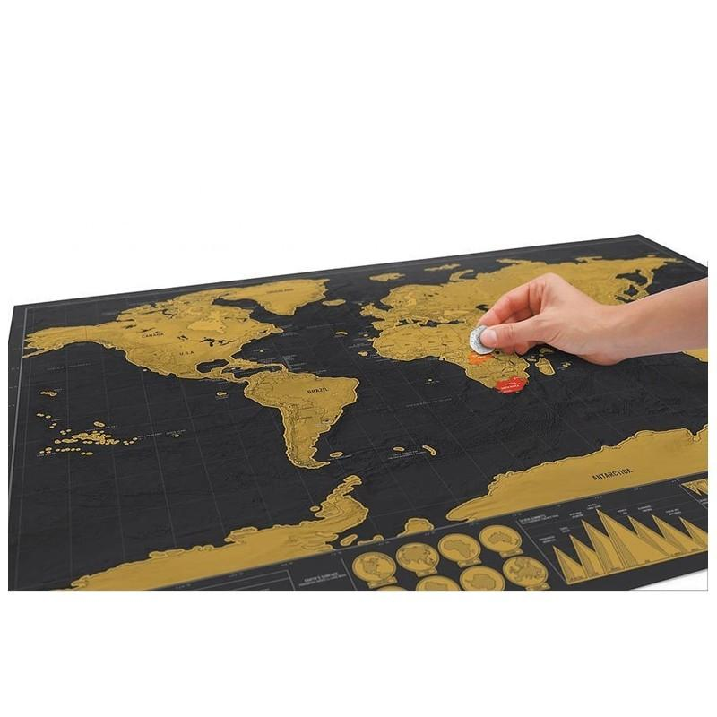 World map scratch for travel black edition esmarttoys world map scratch for travel black edition gumiabroncs Choice Image