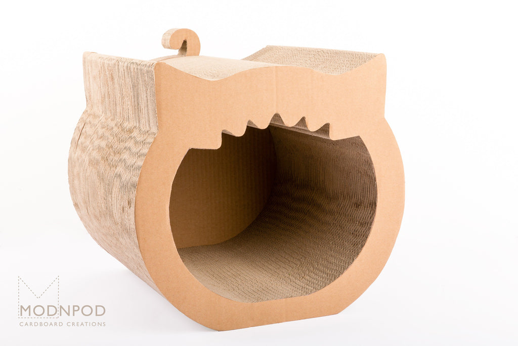 Yawning Cat House / Indoor Cat Pod / Modnpod