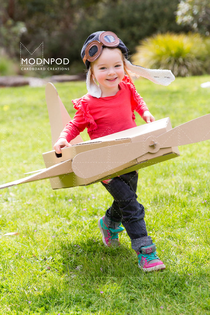 Cardboard box airplane / Modnpod