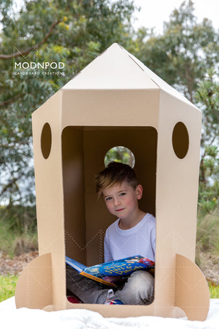 Modnpod Cardboard Space Rocket