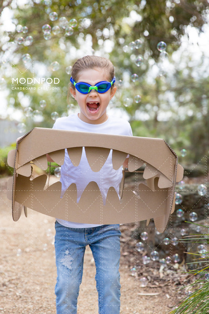 Cardboard Shark / Craft for Kids / Modnpod