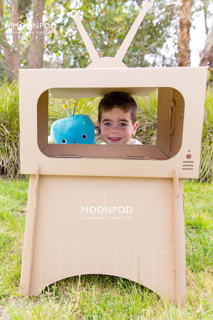 Cardboard TV / Craft Television for kids / Modnpod