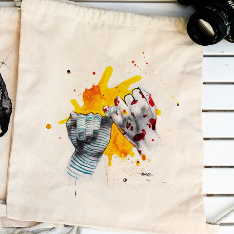 """Equals"" drawstring bag"