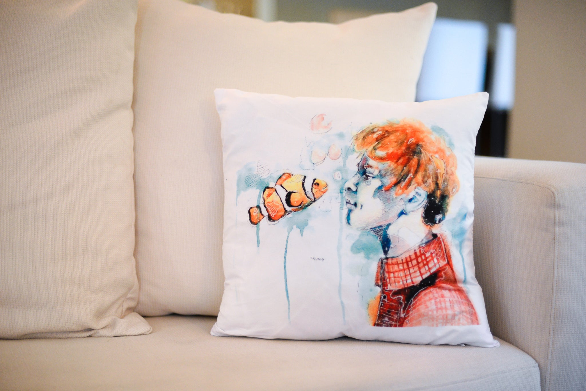 """Underwater gingers"" pillow case"