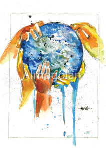 """Our world"" Print"