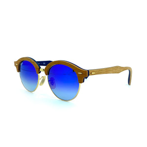 RAY-BAN // CLUBROUND WOOD 4246-M 1180/7Q