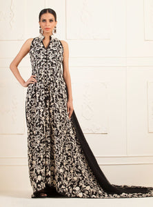 Black and White heavily Embellished Evening Wear