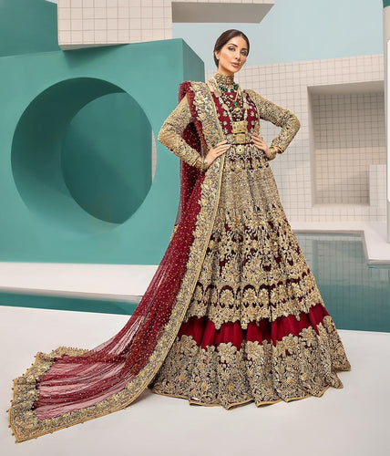 erum khan bridal dress 2019