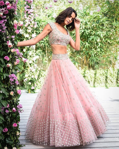 Baby Pink Party Lehenga
