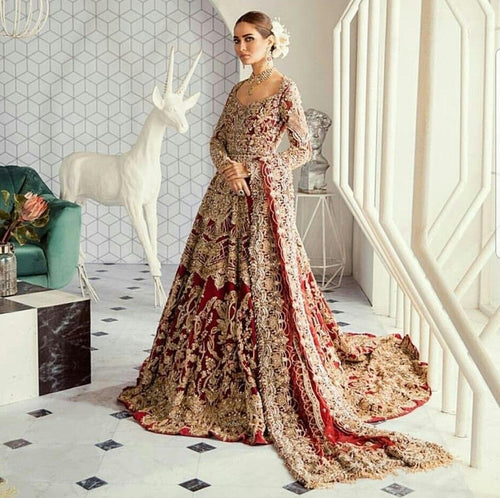 Red Heavily Embellished Gown
