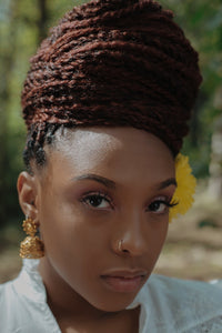Senegalese Twists Styled in an Updo - Deposit