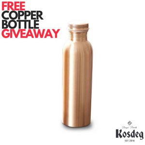 FREE COPPER BOTTLE GIVEAWAY