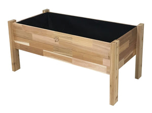 Cedar Elevated Garden Bed Planter With Fitted Liner