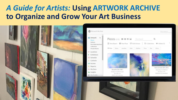 My new SKILLSHARE class for artists:  Using ARTWORK ARCHIVE to organize and grow your business
