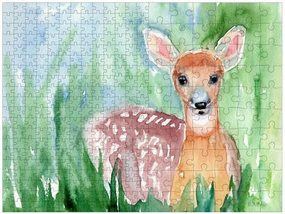 Family Puzzle baby deer painting by Boerio