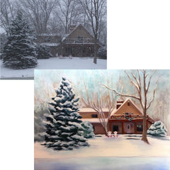 Commissioned house home painting by Carrie Lacey Boerio