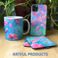 Carrie Lacey Boerio Redbubble store samples mug coasters phone case