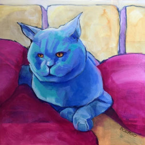 "Russian blue (20x20"" painting)"