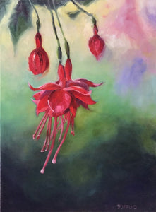 Fuchsia in red (18 x 24 inches)