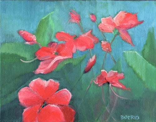 Impatiens plein air (11 x 14 inches)