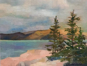 "Maine Acadia (9 x 12"" oil painting)"