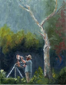 "Painter and Sycamore (11 x 14"")"