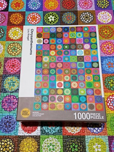 Chrysanthemums by Lou Kregel - 1000 piece jigsaw puzzle