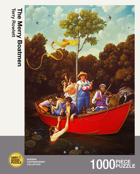 The Merry Boatmen by Terry Rowlett - 1000 piece jigsaw puzzle