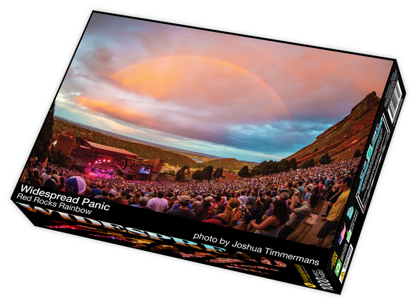 Widespread Panic Red Rocks Rainbow, photo by Joshua Timmermans - 1000 piece jigsaw puzzle