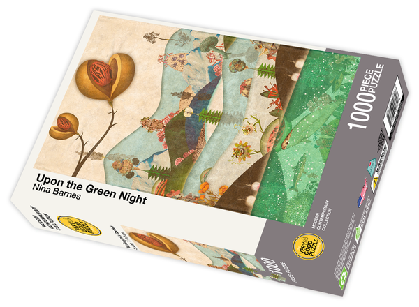 Upon the Green Night by Nina Barnes - 1000 piece jigsaw puzzle
