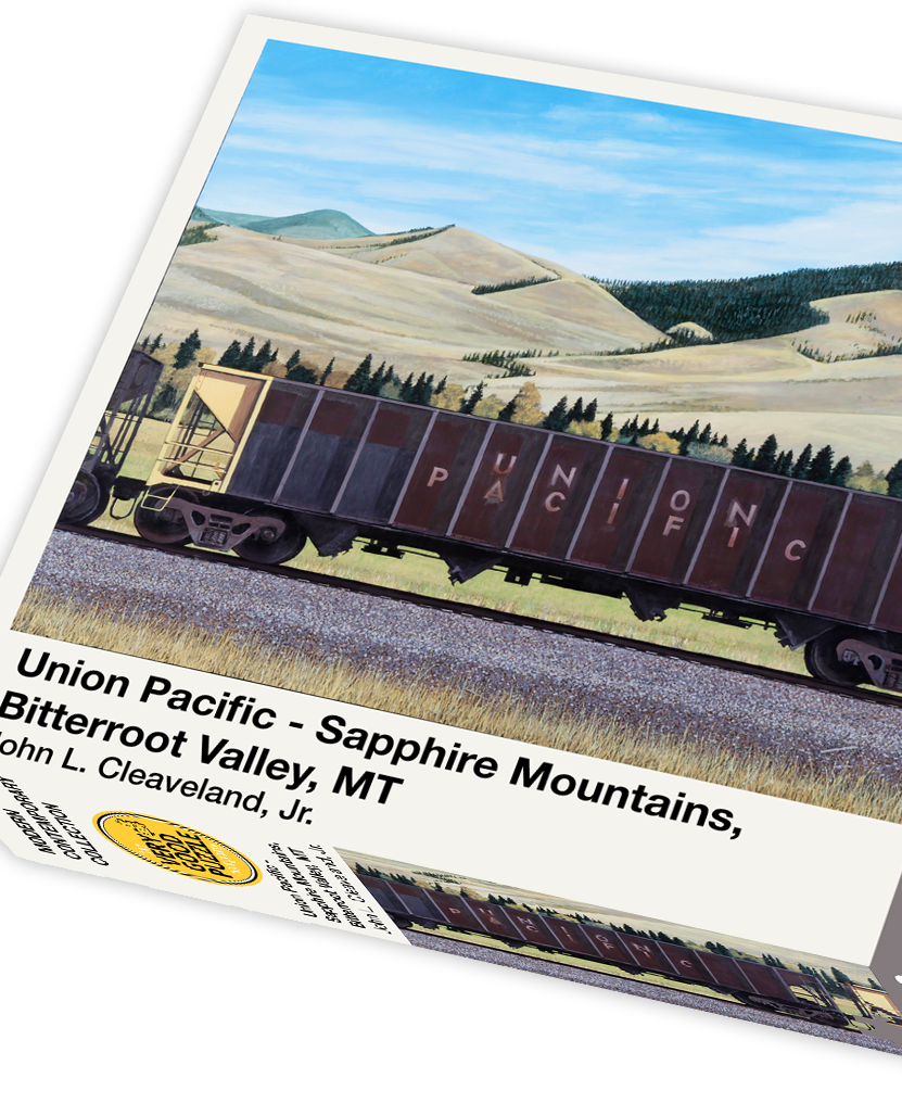 Union Pacific by John Cleaveland - 1000 piece jigsaw puzzle