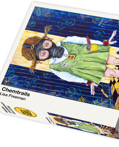 Chemtrails by Lisa Freeman - 1000 piece jigsaw puzzle