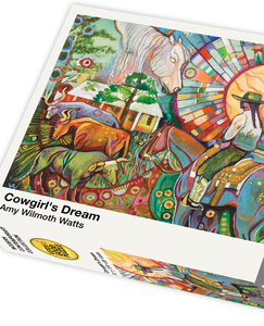 Cowgirl's Dream by Amy Wilmoth Watts - 1000 piece jigsaw puzzle