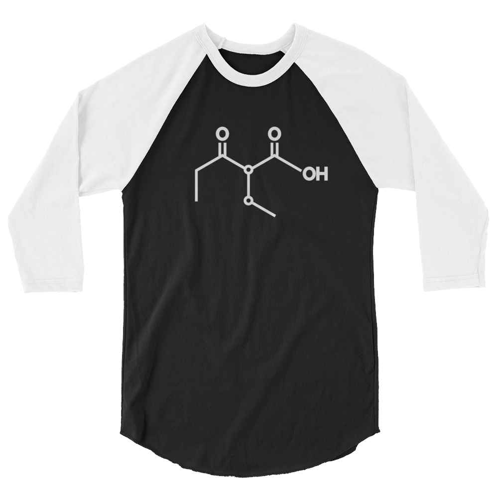 Ketone (Acetoacetic Acid) 3/4 Sleeve Raglan Shirt